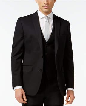 Bar III Black Solid Slim-Fit Jacket