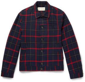 Oliver Spencer Buffalo Plaid Wool-Blend Jacket