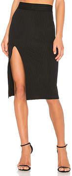 Baja East High Slit Skirt