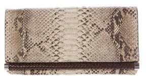 Michael Kors Python Flap Clutch - BROWN - STYLE