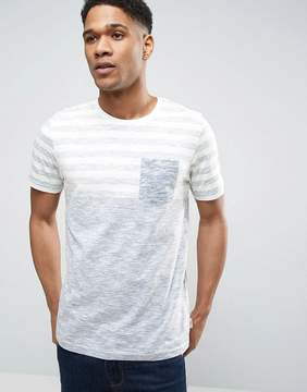 Jack and Jones Originals T-Shirt with Stripe Panel and Pocket