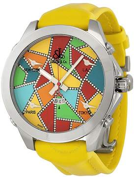 Jacob & co Jacob and Company Five Time Zone Diamond Accented Multi-Colored Dial Men's Watch