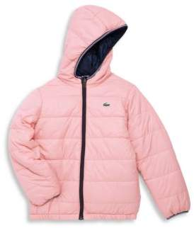 Lacoste Little Girl's & Girl's Reversible Puffer Jacket
