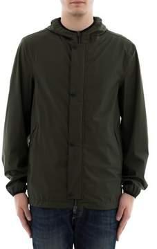 Herno Men's Green Polyurethane Outerwear Jacket.