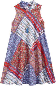 Bonnie Jean 2-Pc. Bandana-Print Shift Dress & Necklace Set, Big Girls