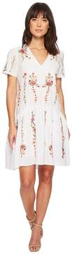 Catherine Malandrino Cyntia High-Low Cotton Embroidered Dress Women's Dress