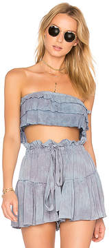 Blue Life Lola Ruffle Top