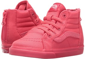 Vans Kids SK8 Hi-Zip Paradise Pink/Glitter) Girls Shoes