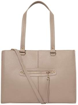Grey Oversized Zip Front Tote Bag