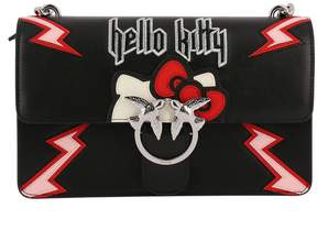 Pinko Crossbody Bags Bag Love Hello Kitty Rock Crossbody In Smooth Leather With Maxi Patches And Embroidery