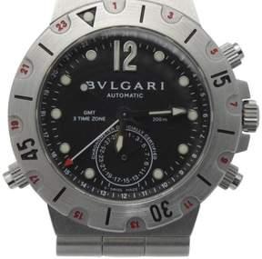 Bulgari Bvlgari Diagono Pro Acqua GMT Scuba SD38S Stainless Steel 38mm Watch