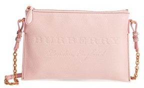 Burberry Peyton Logo Crossbody Bag - Pink - PINK - STYLE