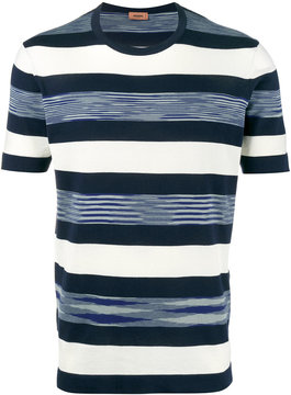 Missoni Blue and White Striped t shirt