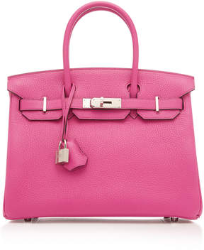 Hermes Vintage by Heritage Auctions 30cm Magnolia Clemence Leather Birkin