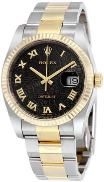 Rolex Oyster Perpetual Datejust 36 Black Dial Stainless Steel and 18K Yellow Gold Bracelet Automatic Men's Watch