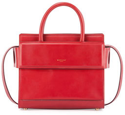 Givenchy Horizon Mini Leather Satchel Bag, Red