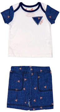 GUESS Short-Sleeve Logo Tee and Shorts Set (0-24M)