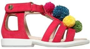 Aquazzura Pompom Suede Sandals