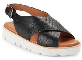 Gentle Souls Kiki Embossed Leather Platform Sandals