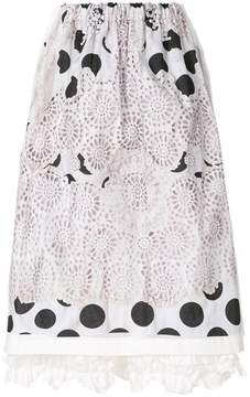 Comme des Garcons embroidered polka dot skirt