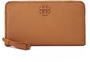 Tory Burch Taylor Zip Continental Wallet - SADDLE - STYLE