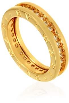 Bvlgari B.zero1 18kt Yellow Gold Diamond Size 7 Ring