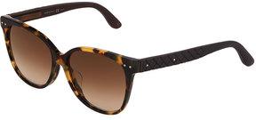 Bottega Veneta Plastic Round Sunglasses