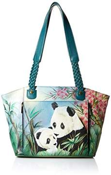 Anuschka Anna by Hand Painted Leather Women's East WEST Organizer Tote