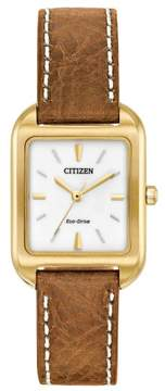 Citizen EM0492-02A Brown Stainless Steel Silhouette Women's Eco-Drive Watch
