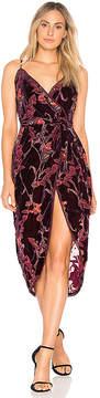 J.o.a. Burnout Velvet Wrap Dress