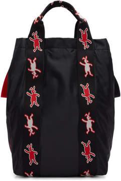 Marni Dance Bunny Black Bunny Shopping Tote
