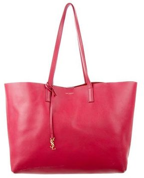 Saint Laurent Large Shopping Tote - BURGUNDY - STYLE