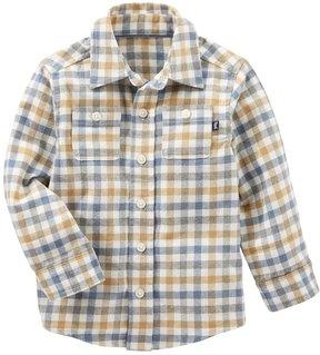 Osh Kosh Toddler Boy Button Down Plaid Shirt