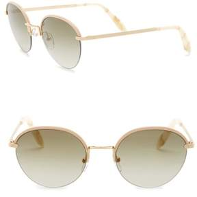 Victoria Beckham 52mm Metal Round Sunglasses