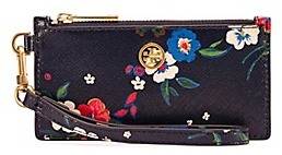 Tory Burch Parker Printed Zip Card Case - PANSY BOUQUET FLORAL - STYLE