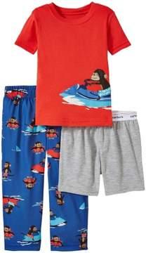 Carter's 3 Piece Pajama Set Jet Ski Monkey