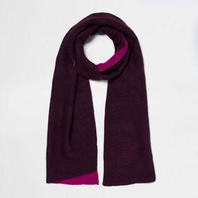 River Island Womens Dark red and fuschia rib color block scarf