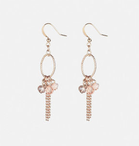 Avenue Blush Chain Drop Earrings