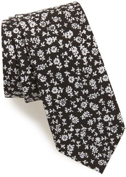 1901 Men's Floral Print Cotton Tie