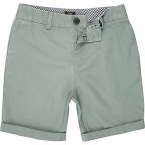 River Island Boys green chino shorts