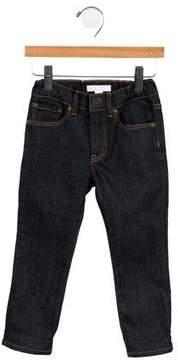 Burberry Boys' Five Pocket Nova Check-Trimmed Jeans