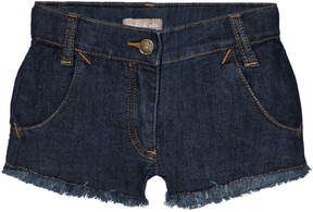 Emile et Ida Blue Denim Cat Face Shorts
