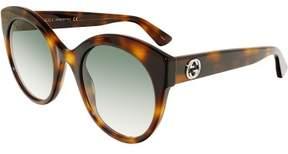 Gucci Gradient GG0028S-002-52 Brown Cat Eye Sunglasses