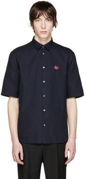 McQ Navy Embroidered Sheehan Shirt