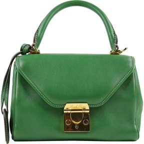 Mark Cross Green Leather Handbag