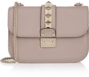 Valentino Garavani Lock Small Leather Shoulder Bag - Blush