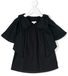 Chloé Kids bow detail ruched T-shirt