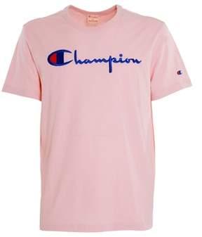 Champion Men's Pink Cotton T-shirt.