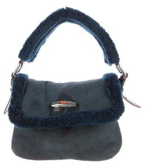 Marc Jacobs Shearling Flap Bag - BLUE - STYLE