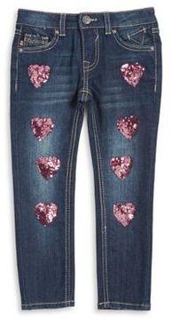 Vigoss Little Girl's Sequined Jeans